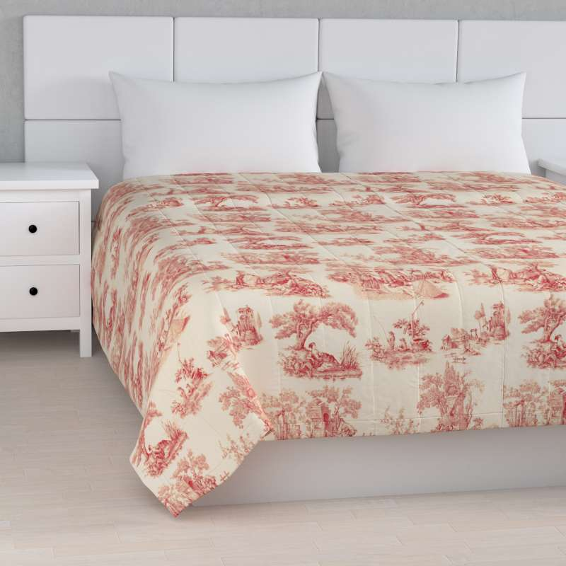 Stripe quilted throw in collection Avinon, fabric: 132-15