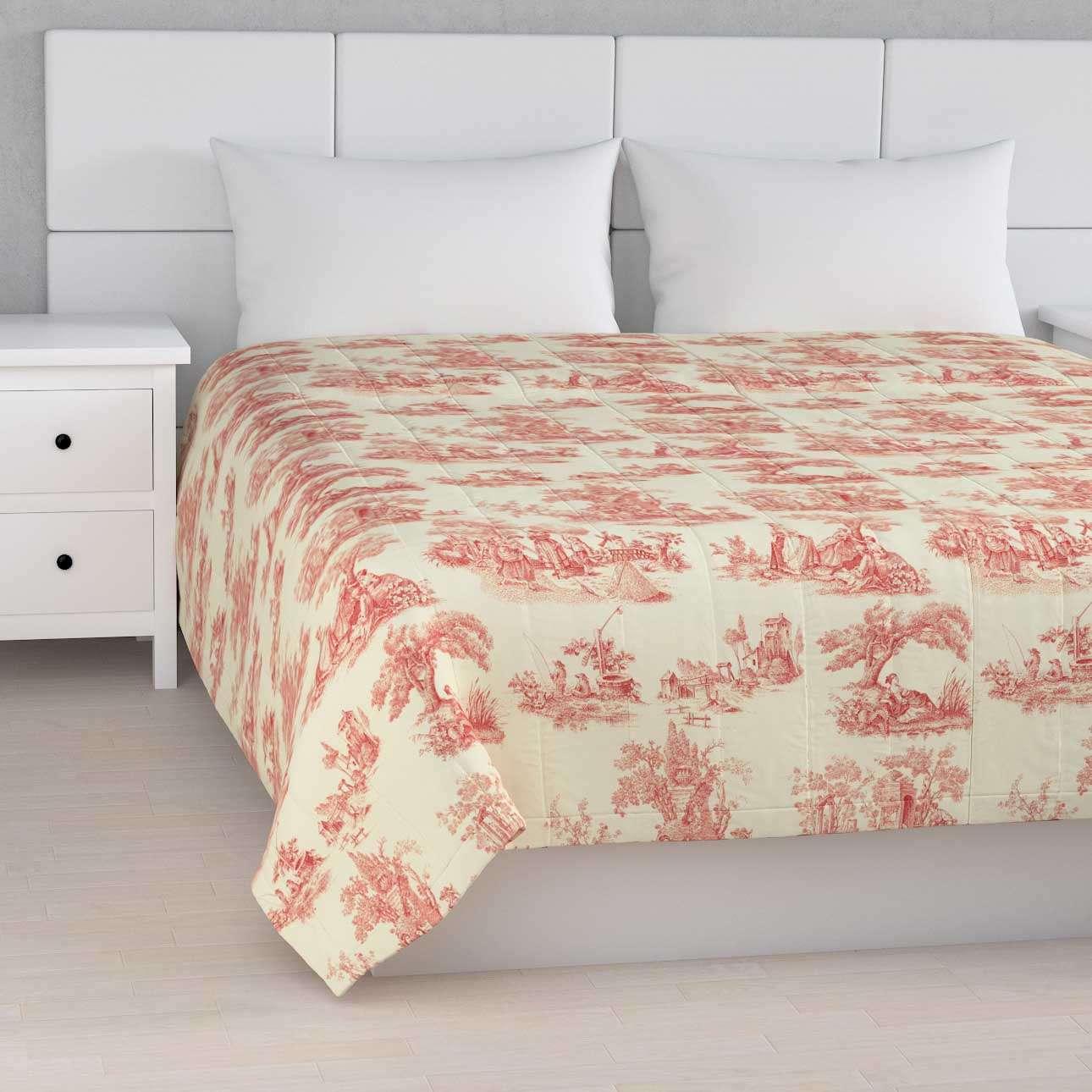 Sengetæppe quiltet<br/>10cm striber 120g/m 260 x 210 cm fra kollektionen Avinon, Stof: 132-15