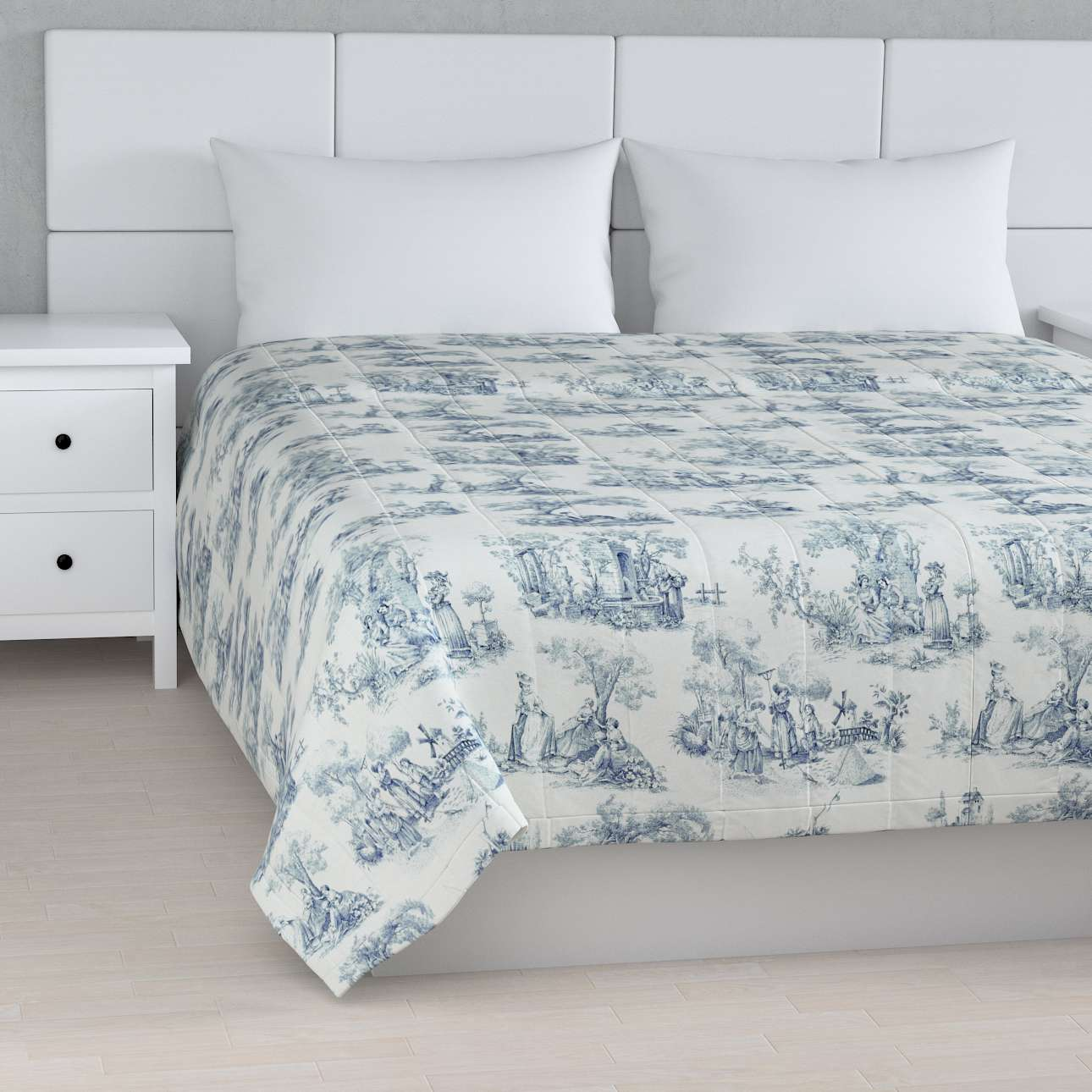 Stripe quilted throw 260 x 210 cm (102 x 83 inch) in collection Avinon, fabric: 132-66