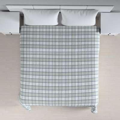 Sengeteppe quiltet<br/>10cm striper 143-65 Naturhvit, grå og blå Kolleksjon Bristol