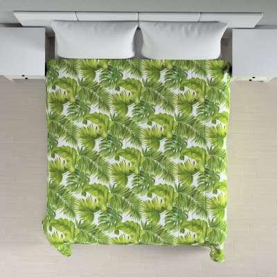 Tagesdecke mit Streifen-Steppung 143-63 grün-weiß Kollektion Tropical Island