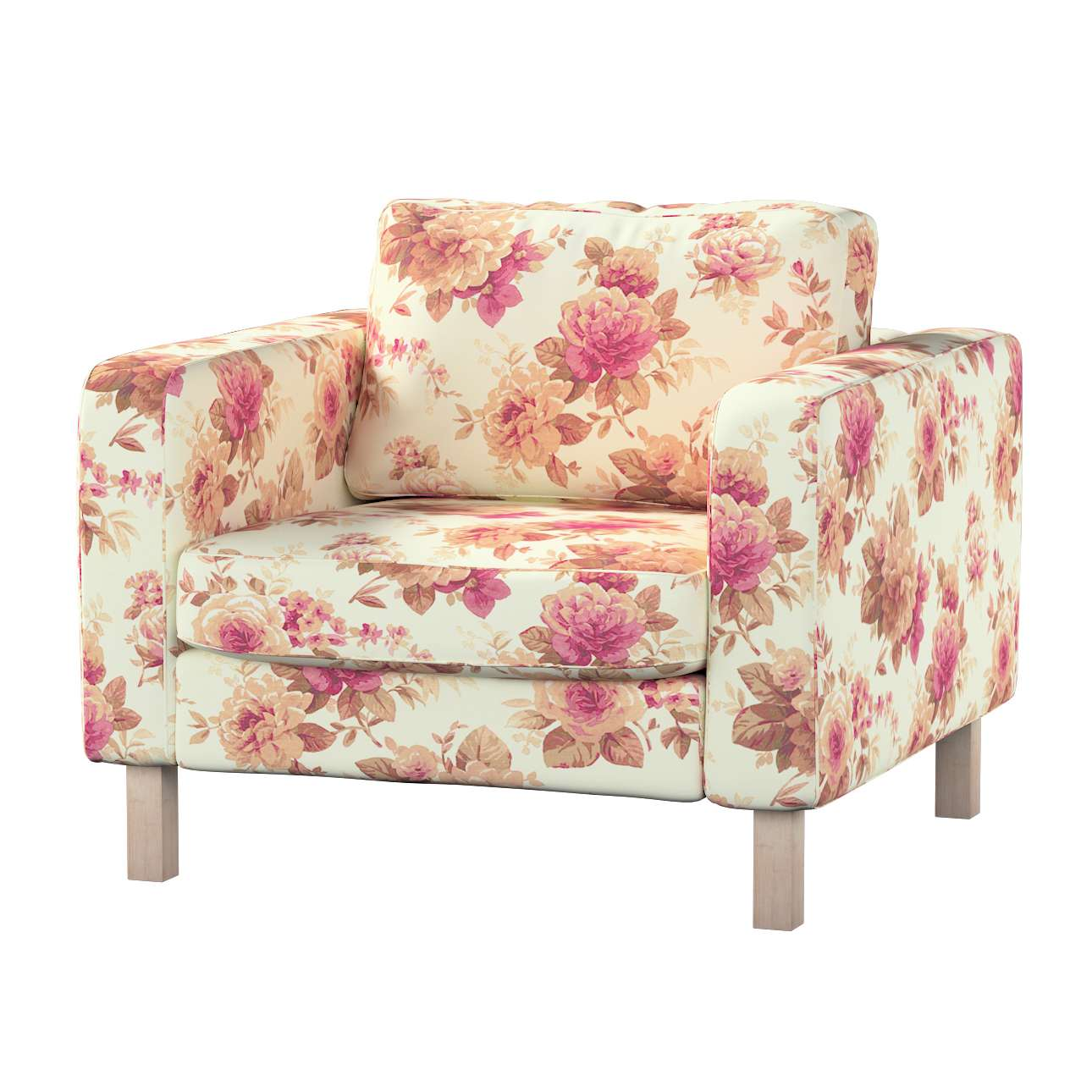Karlstad armchair cover in collection Mirella, fabric: 141-06