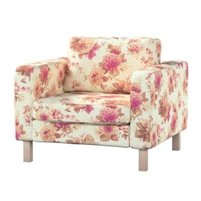 Pokrowiec na fotel Karlstad, krótki w kolekcji Londres, tkanina: 141-06