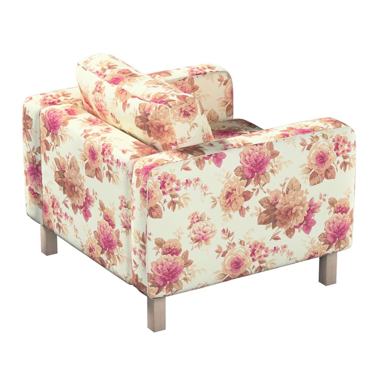 Pokrowiec na fotel Karlstad, krótki w kolekcji Mirella, tkanina: 141-06