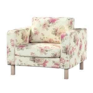 Pokrowiec na fotel Karlstad, krótki Fotel Karlstad w kolekcji Mirella, tkanina: 141-07
