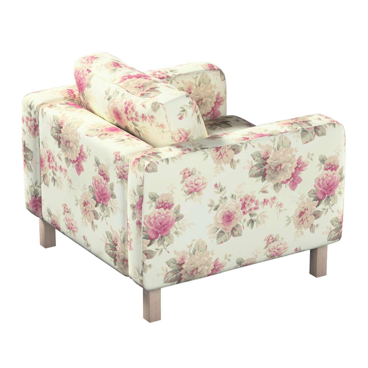 Pokrowiec na fotel Karlstad, krótki w kolekcji Londres, tkanina: 141-07
