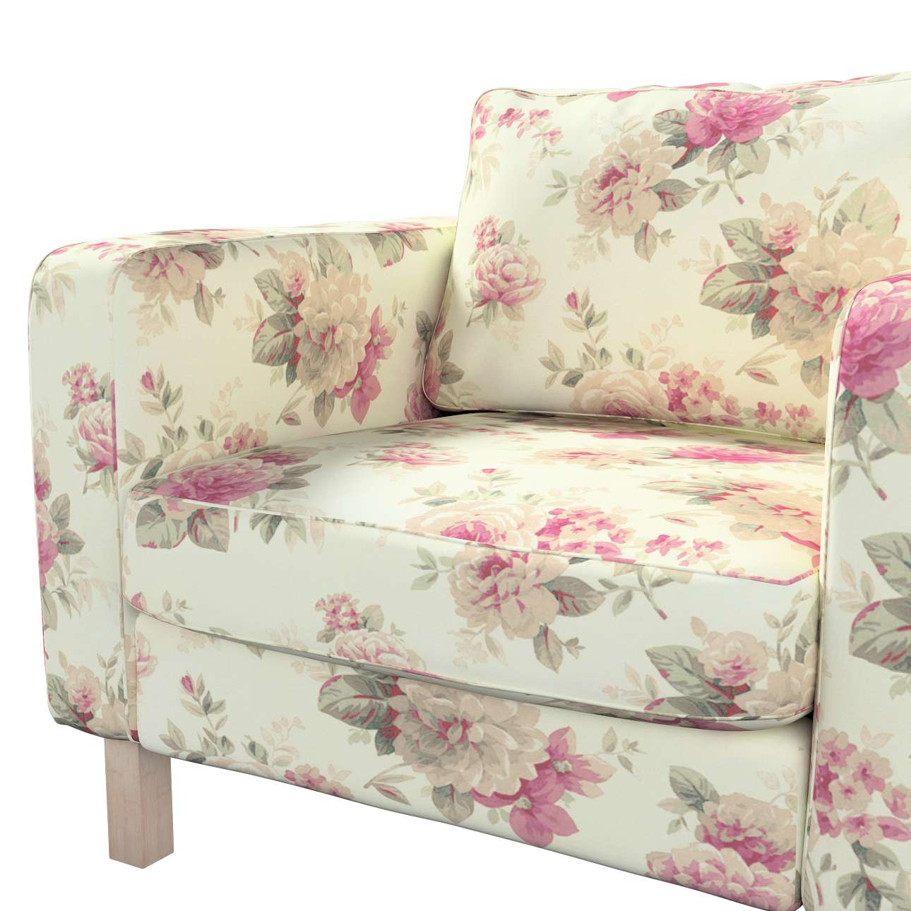 Karlstad armchair cover in collection Mirella, fabric: 141-07