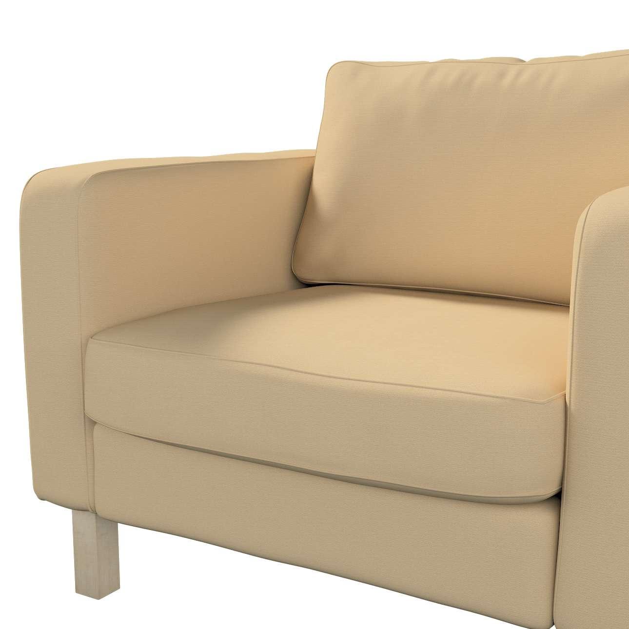 Pokrowiec na fotel Karlstad, krótki w kolekcji Cotton Panama, tkanina: 702-01