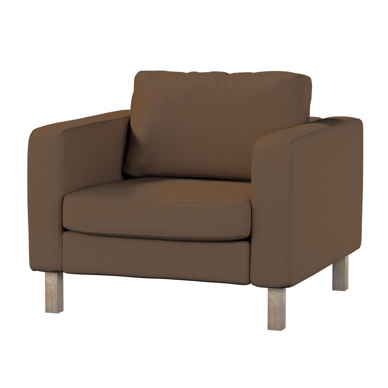 Potah na křeslo IKEA Karlstad, krátký potah na křeslo Karlstad krátký v kolekci Cotton Panama, látka: 702-02