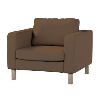 Pokrowiec na fotel Karlstad, krótki Fotel Karlstad w kolekcji Cotton Panama, tkanina: 702-02