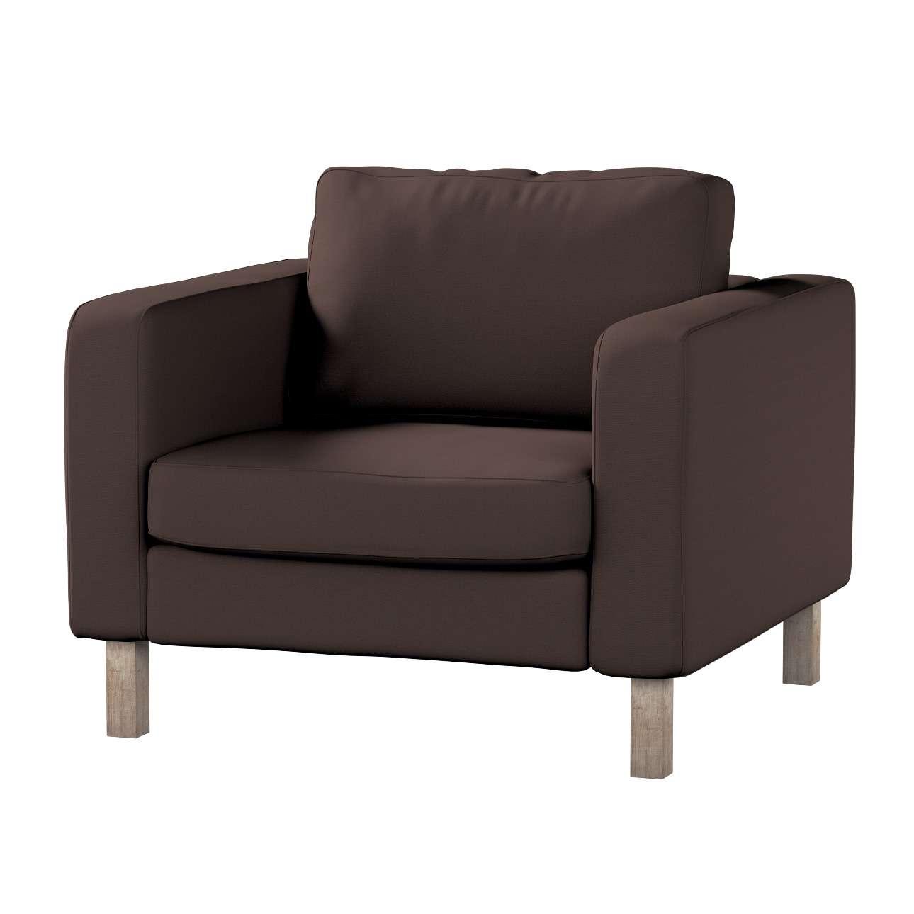 Pokrowiec na fotel Karlstad, krótki Fotel Karlstad w kolekcji Cotton Panama, tkanina: 702-03