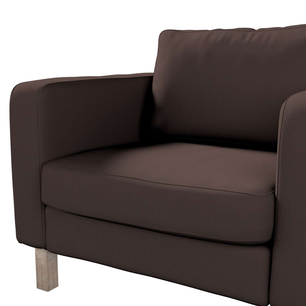 Karlstad armchair cover in collection Panama Cotton, fabric: 702-03