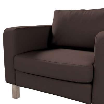 Pokrowiec na fotel Karlstad, krótki w kolekcji Cotton Panama, tkanina: 702-03