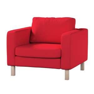 Pokrowiec na fotel Karlstad, krótki Fotel Karlstad w kolekcji Cotton Panama, tkanina: 702-04