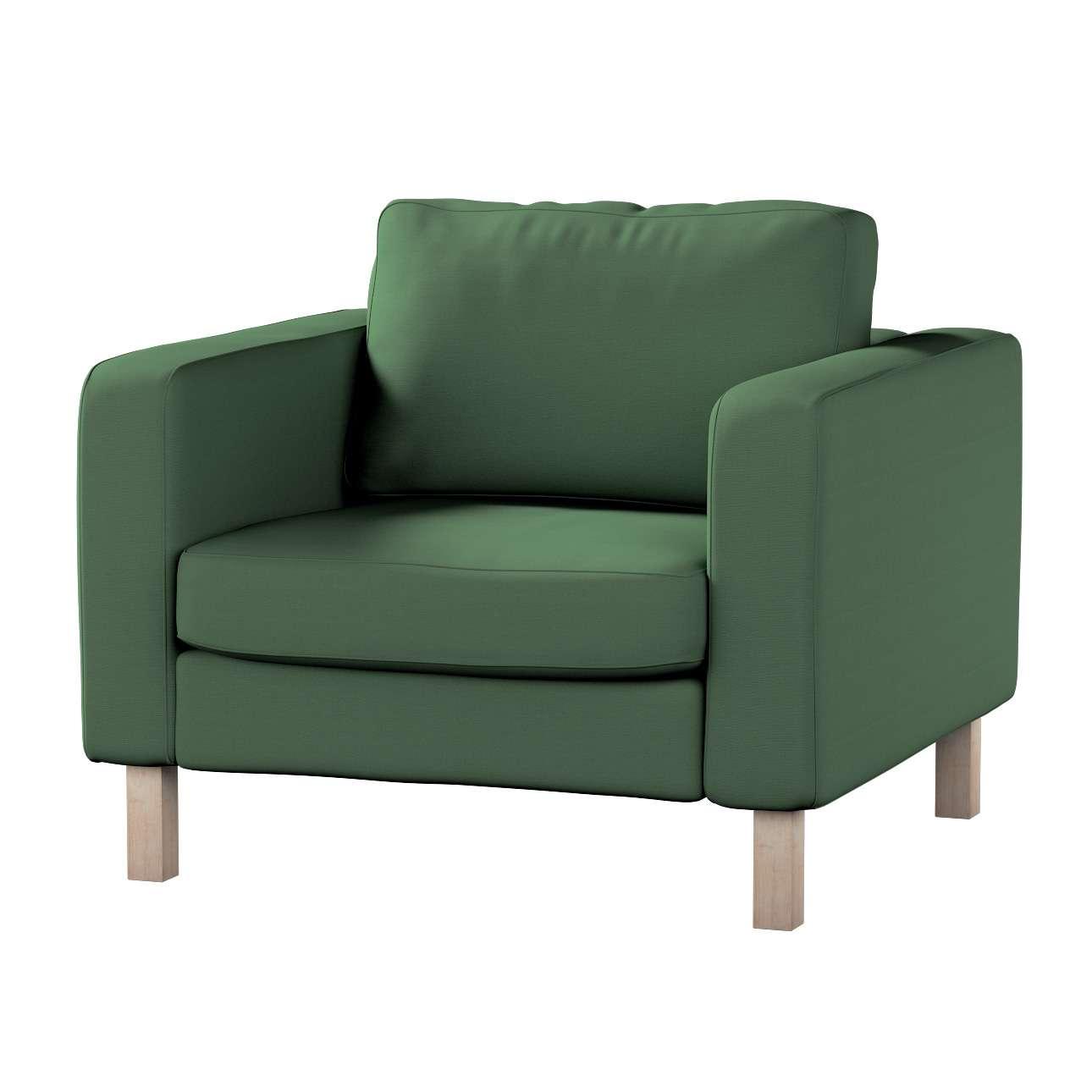 Pokrowiec na fotel Karlstad, krótki Fotel Karlstad w kolekcji Cotton Panama, tkanina: 702-06