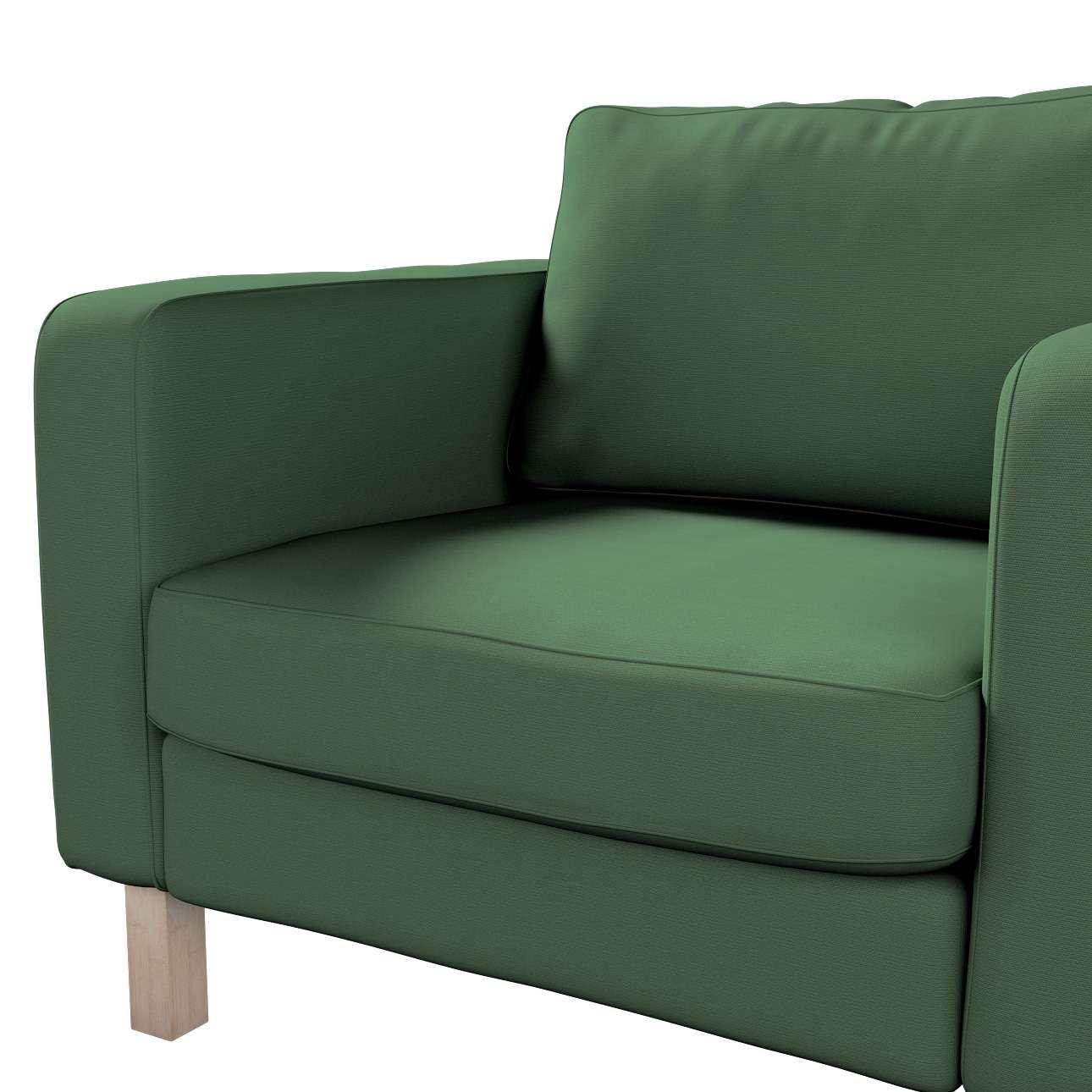 Pokrowiec na fotel Karlstad, krótki w kolekcji Cotton Panama, tkanina: 702-06