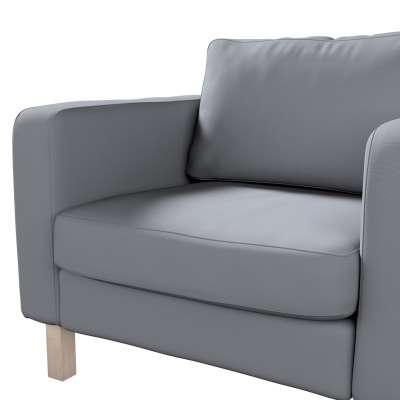 Pokrowiec na fotel Karlstad, krótki w kolekcji Cotton Panama, tkanina: 702-07