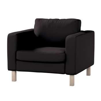 Pokrowiec na fotel Karlstad, krótki w kolekcji Cotton Panama, tkanina: 702-08