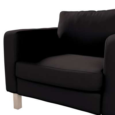 Pokrowiec na fotel Karlstad, krótki w kolekcji Cotton Panama, tkanina: 702-09
