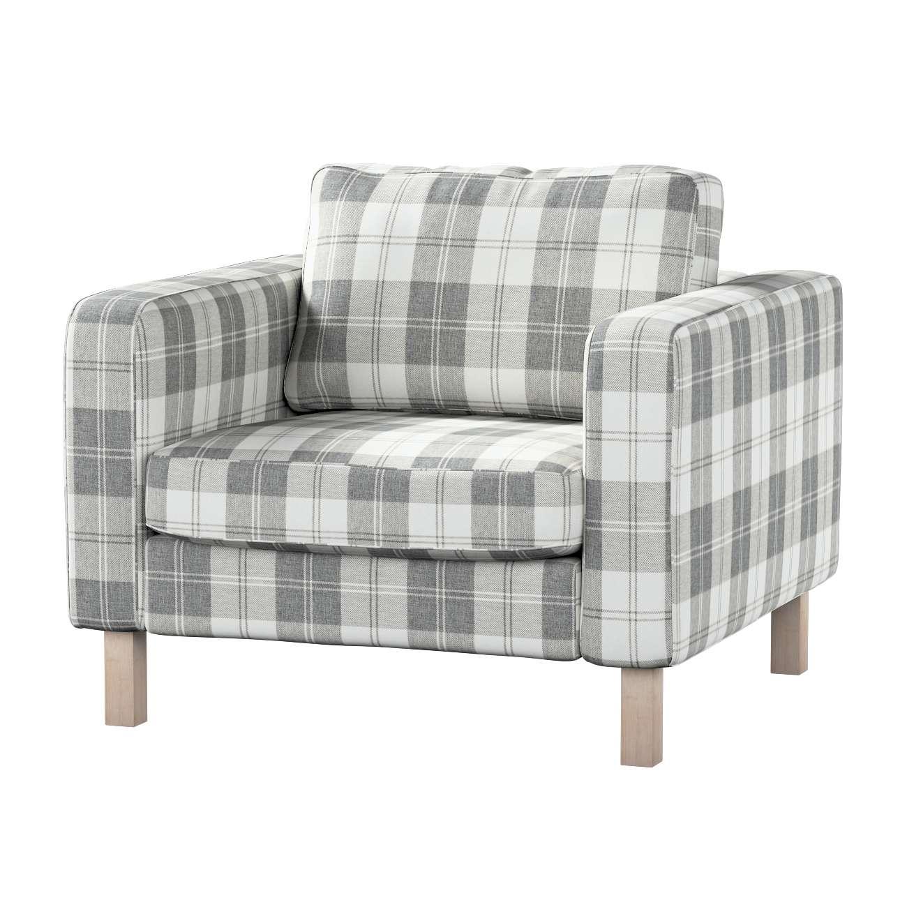 Pokrowiec na fotel Karlstad, krótki Fotel Karlstad w kolekcji Edinburgh, tkanina: 115-79