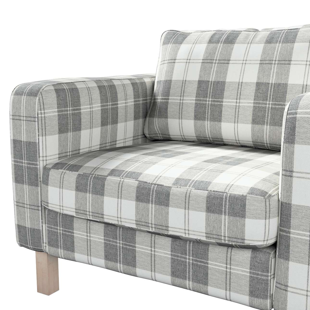 Karlstad armchair cover in collection Edinburgh, fabric: 115-79