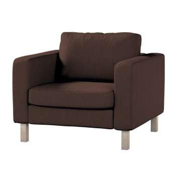 Pokrowiec na fotel Karlstad, krótki w kolekcji Chenille, tkanina: 702-18