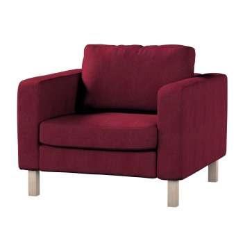 Pokrowiec na fotel Karlstad, krótki w kolekcji Chenille, tkanina: 702-19