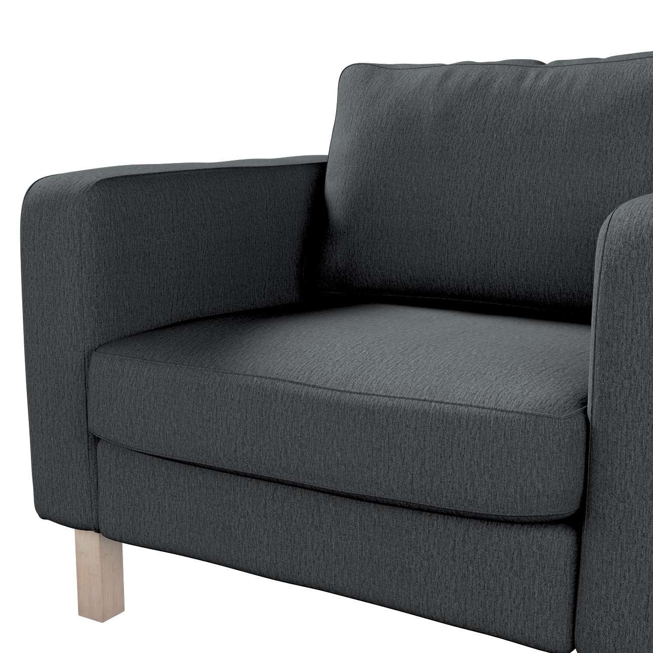 Pokrowiec na fotel Karlstad, krótki w kolekcji Chenille, tkanina: 702-20