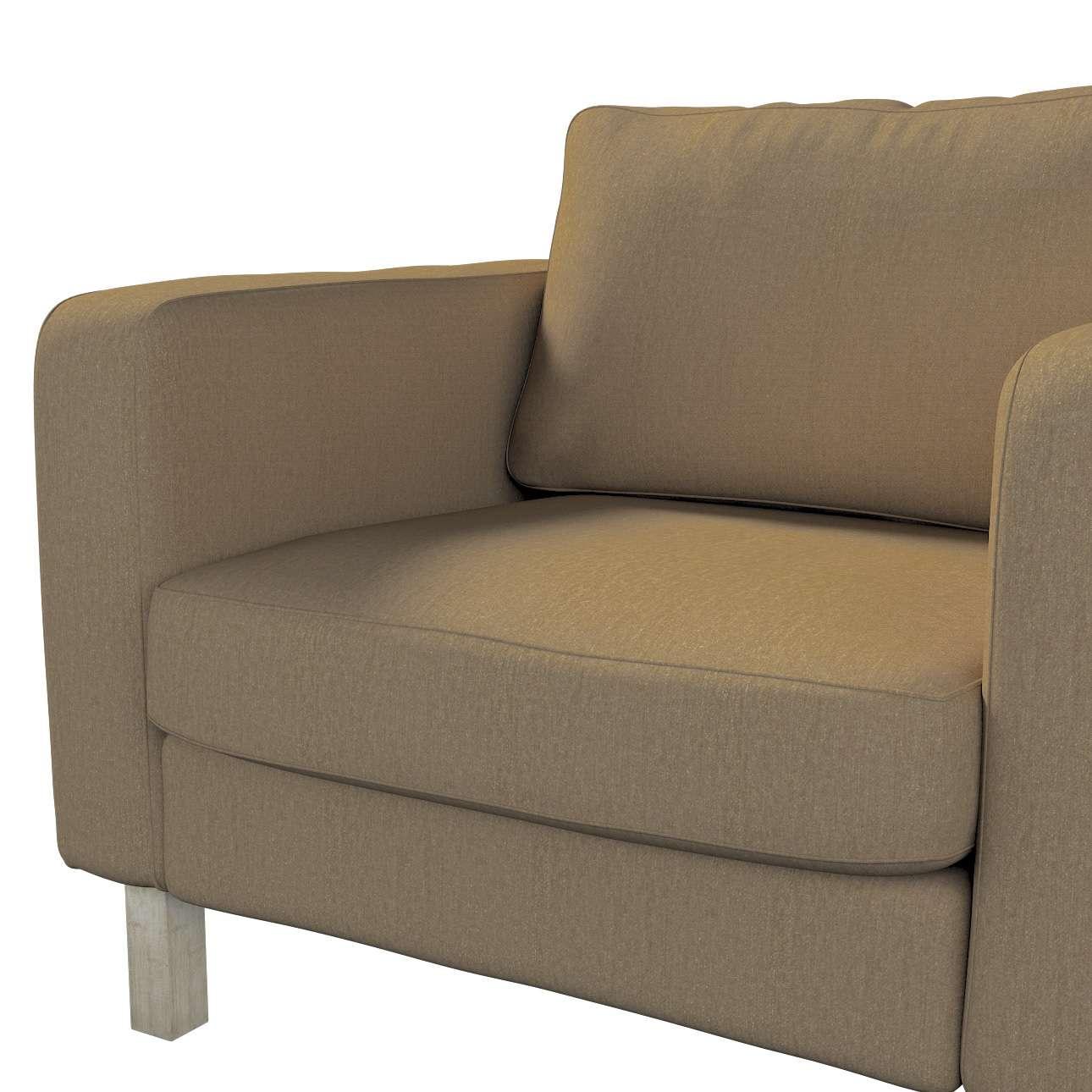 Pokrowiec na fotel Karlstad, krótki w kolekcji Chenille, tkanina: 702-21
