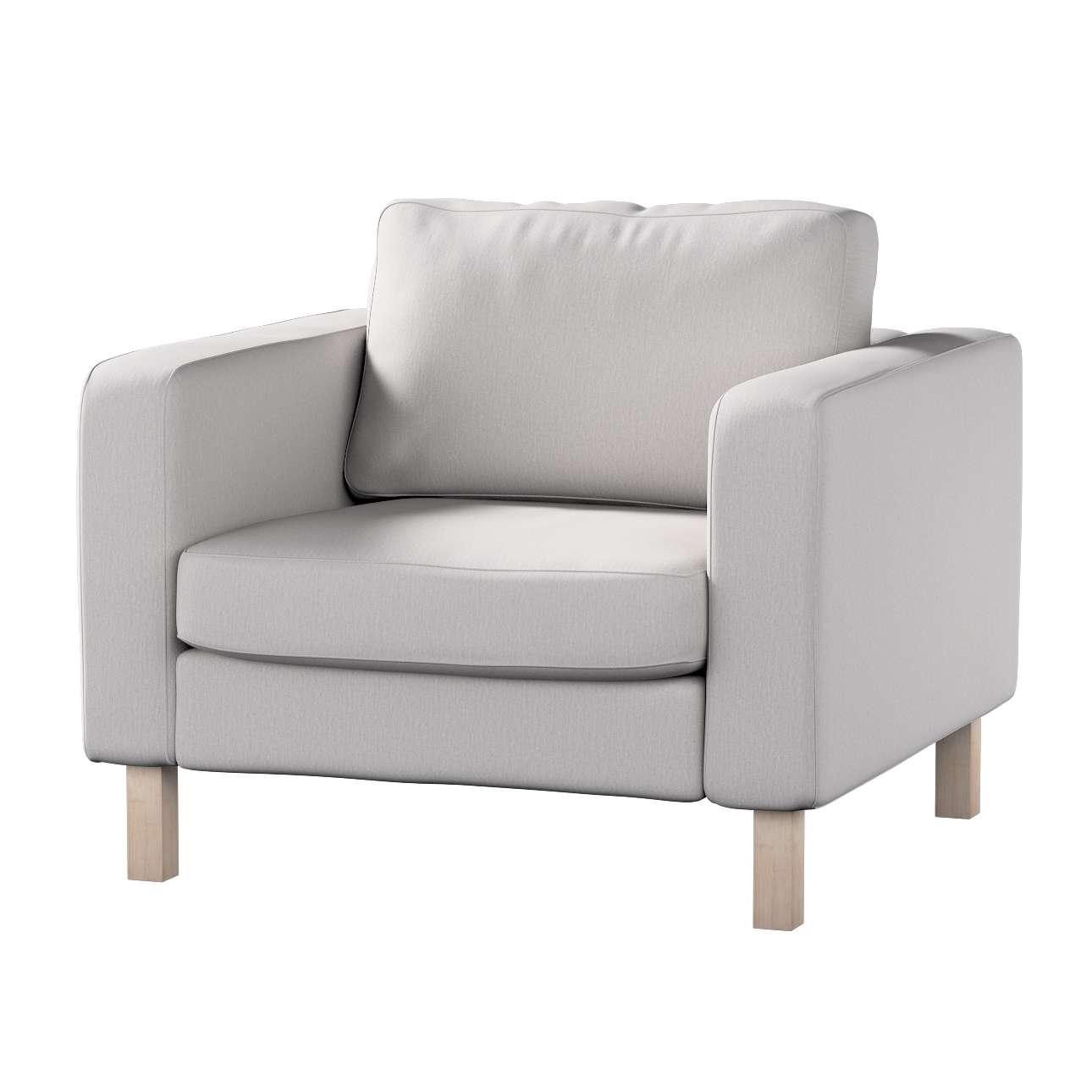 Pokrowiec na fotel Karlstad, krótki Fotel Karlstad w kolekcji Chenille, tkanina: 702-23