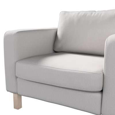 Pokrowiec na fotel Karlstad, krótki w kolekcji Chenille, tkanina: 702-23