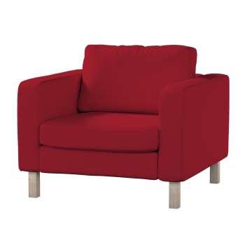 Pokrowiec na fotel Karlstad, krótki Fotel Karlstad w kolekcji Chenille, tkanina: 702-24