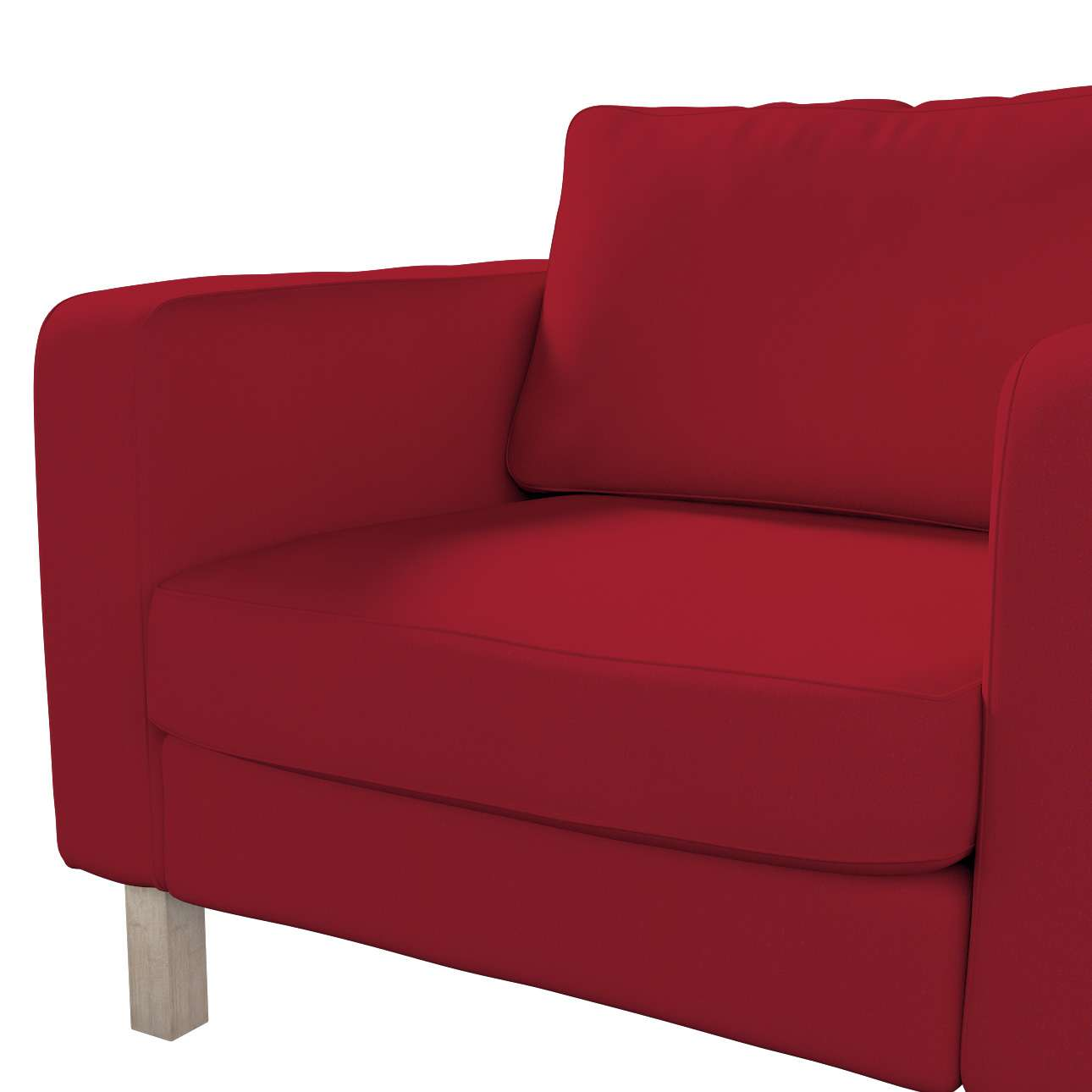 Pokrowiec na fotel Karlstad, krótki w kolekcji Chenille, tkanina: 702-24