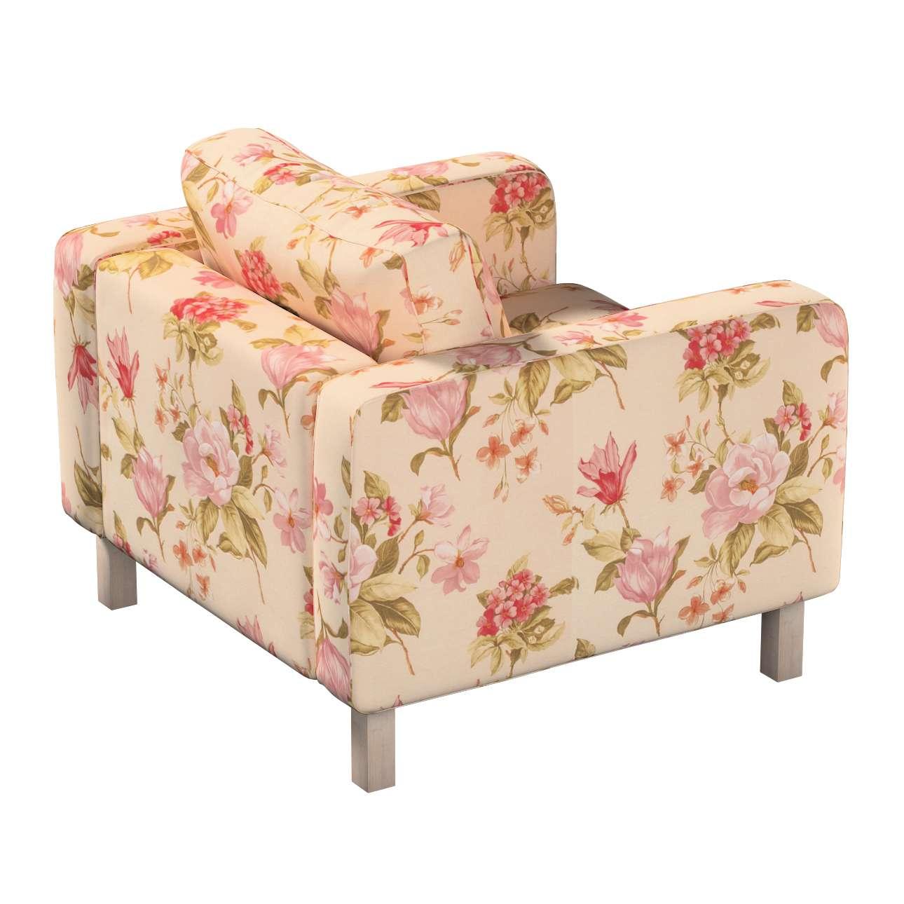 Pokrowiec na fotel Karlstad, krótki w kolekcji Londres, tkanina: 123-05