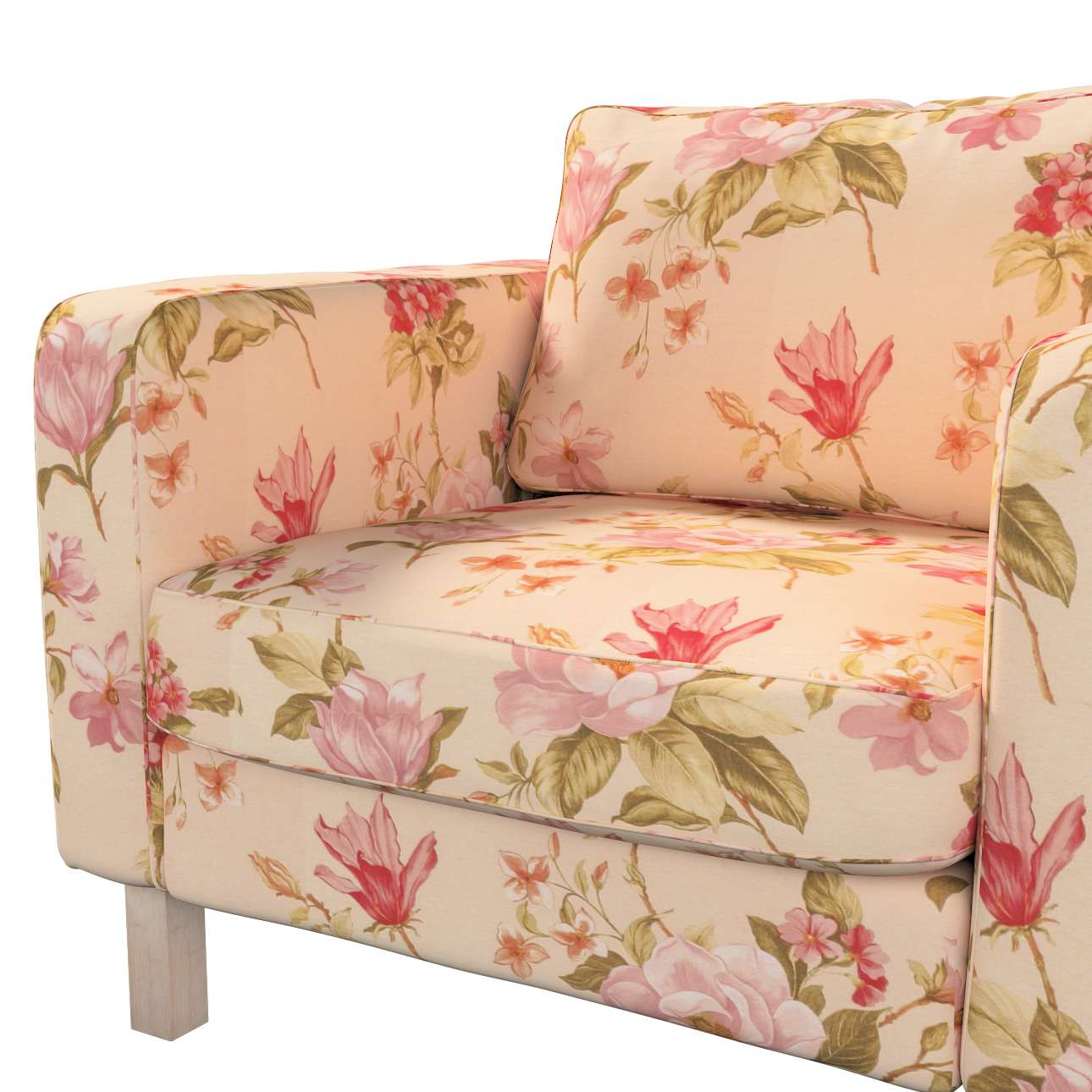 Karlstad armchair cover in collection Londres, fabric: 123-05