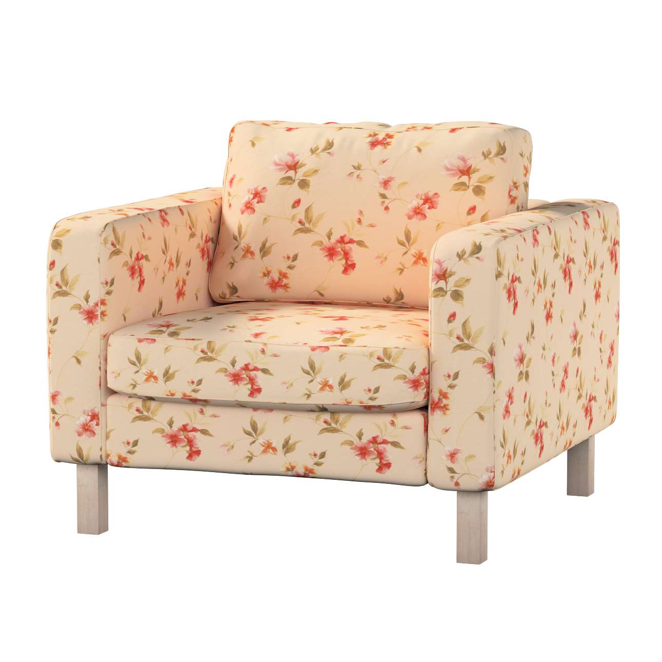 Karlstad armchair cover in collection Londres, fabric: 124-05