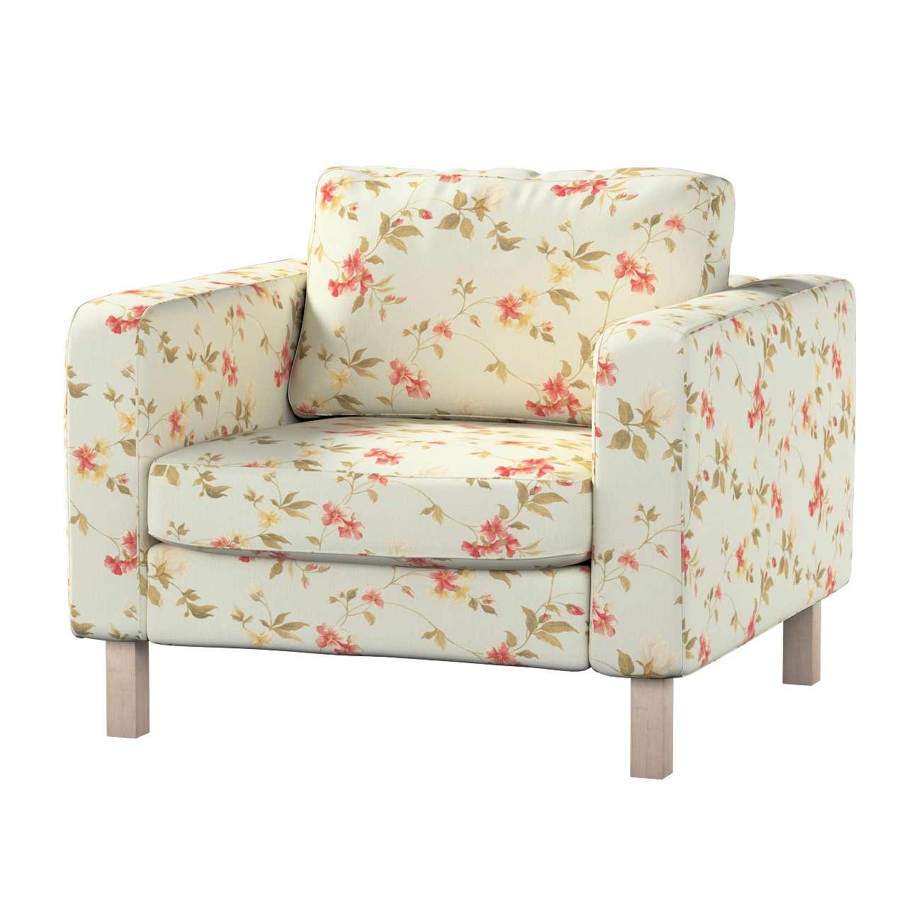 Pokrowiec na fotel Karlstad, krótki Fotel Karlstad w kolekcji Londres, tkanina: 124-65