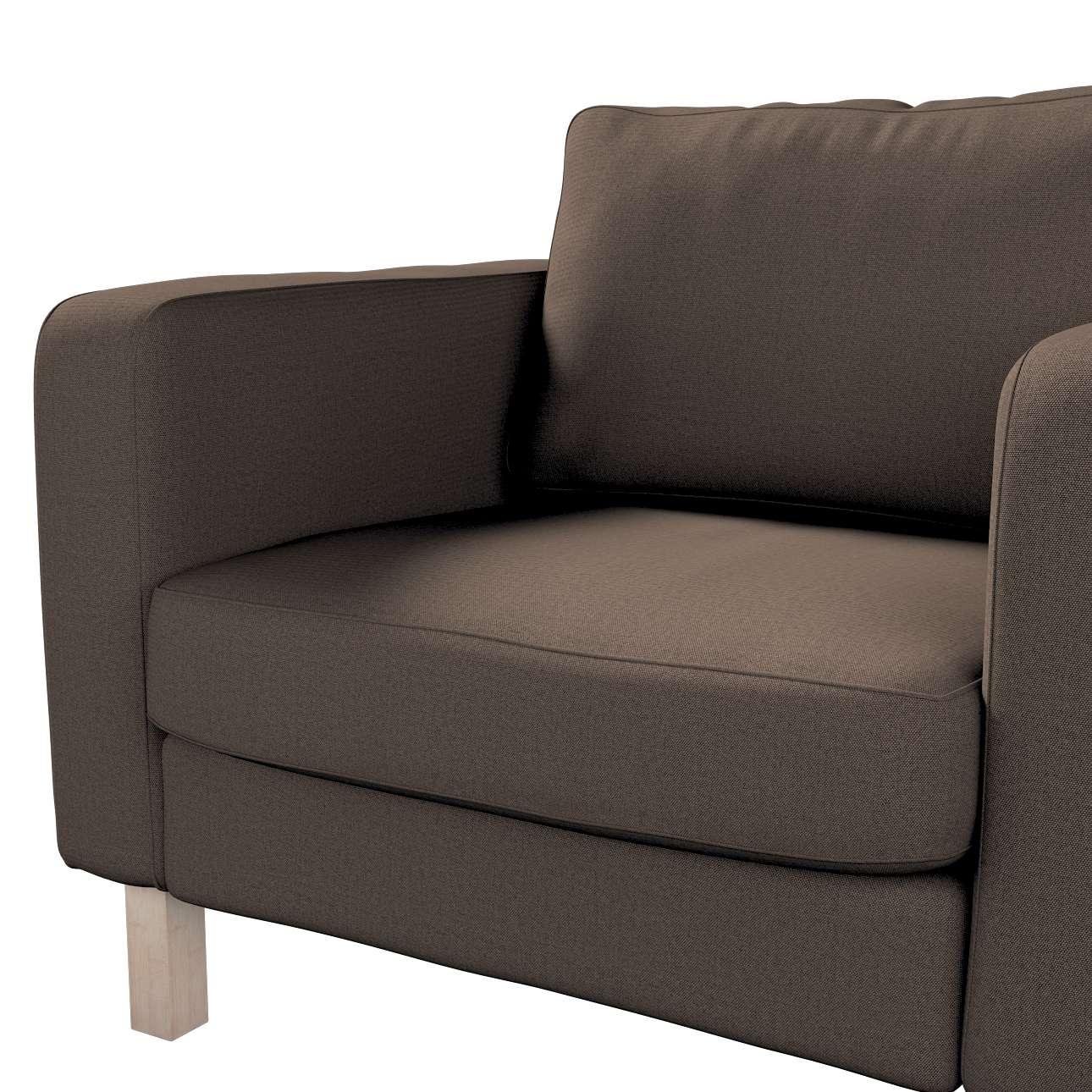 Pokrowiec na fotel Karlstad, krótki w kolekcji Etna, tkanina: 705-08