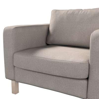 Pokrowiec na fotel Karlstad, krótki w kolekcji Etna, tkanina: 705-09