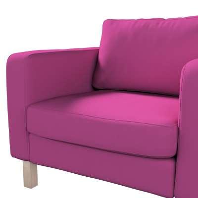 Pokrowiec na fotel Karlstad, krótki w kolekcji Etna, tkanina: 705-23