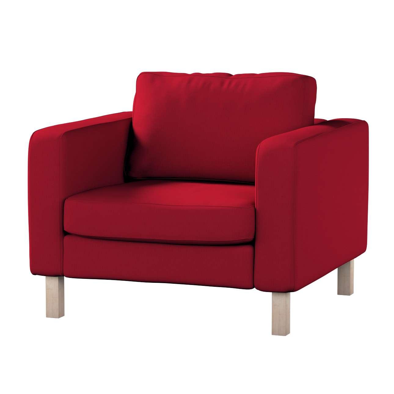 Pokrowiec na fotel Karlstad, krótki Fotel Karlstad w kolekcji Etna , tkanina: 705-60