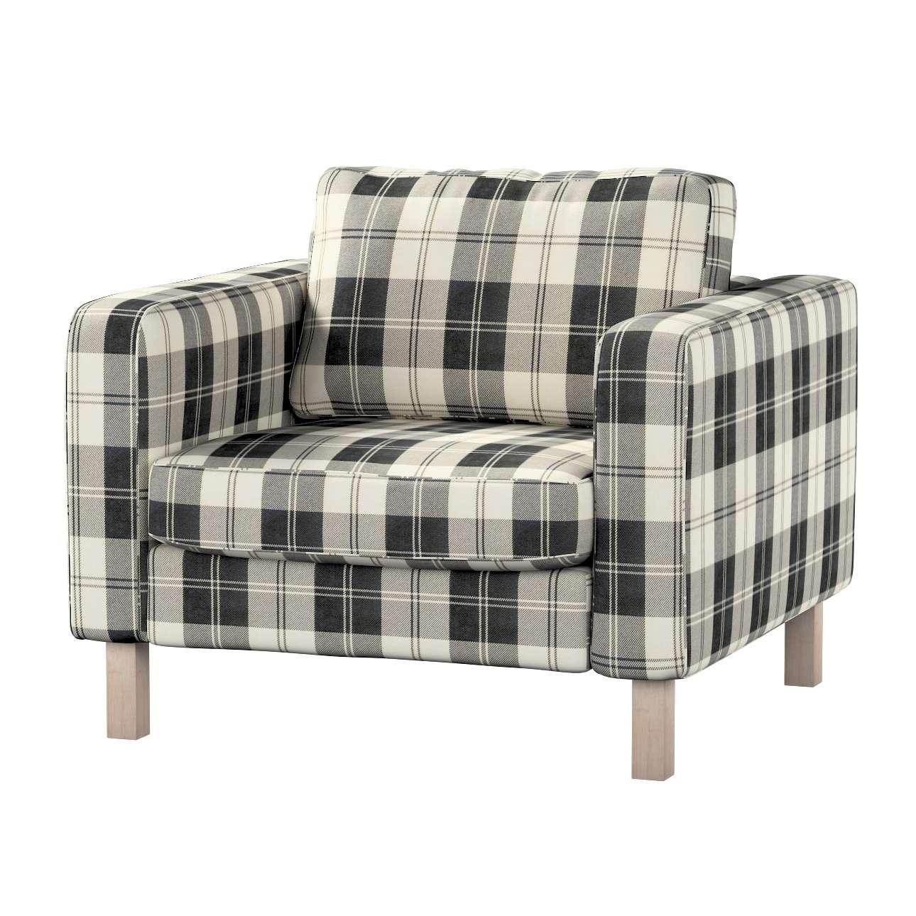 Pokrowiec na fotel Karlstad, krótki Fotel Karlstad w kolekcji Edinburgh, tkanina: 115-74