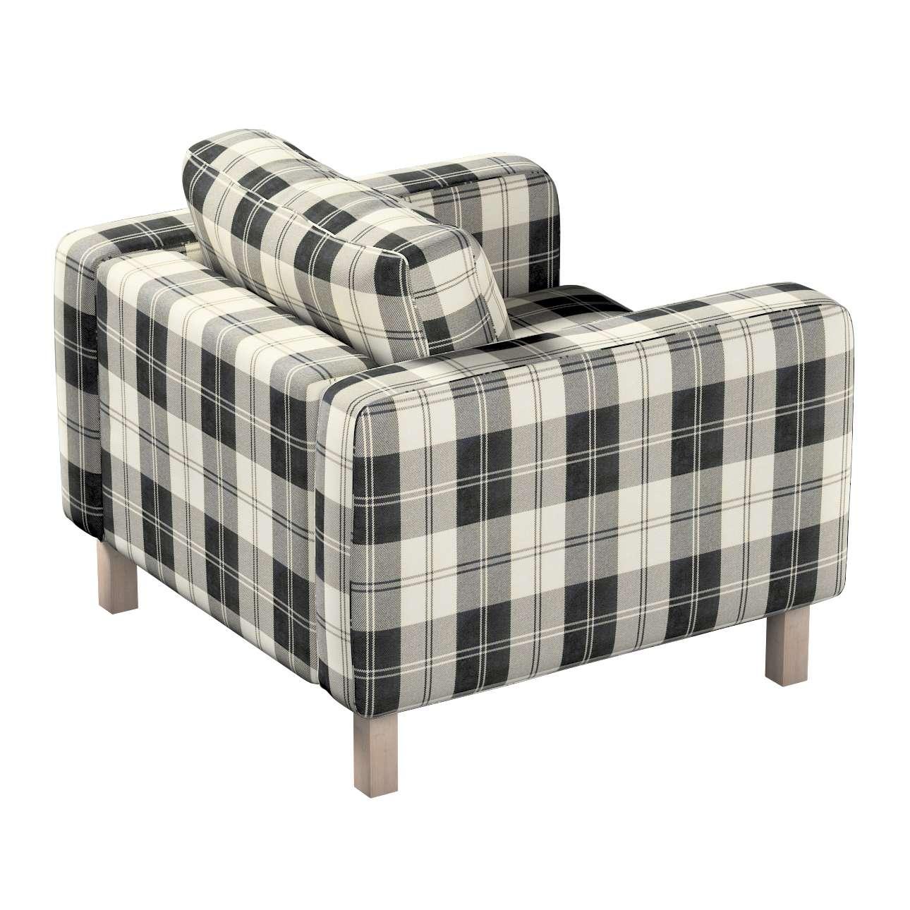 Karlstad fotel huzat, rövid a kollekcióból Edinburgh Bútorszövet, Dekoranyag: 115-74