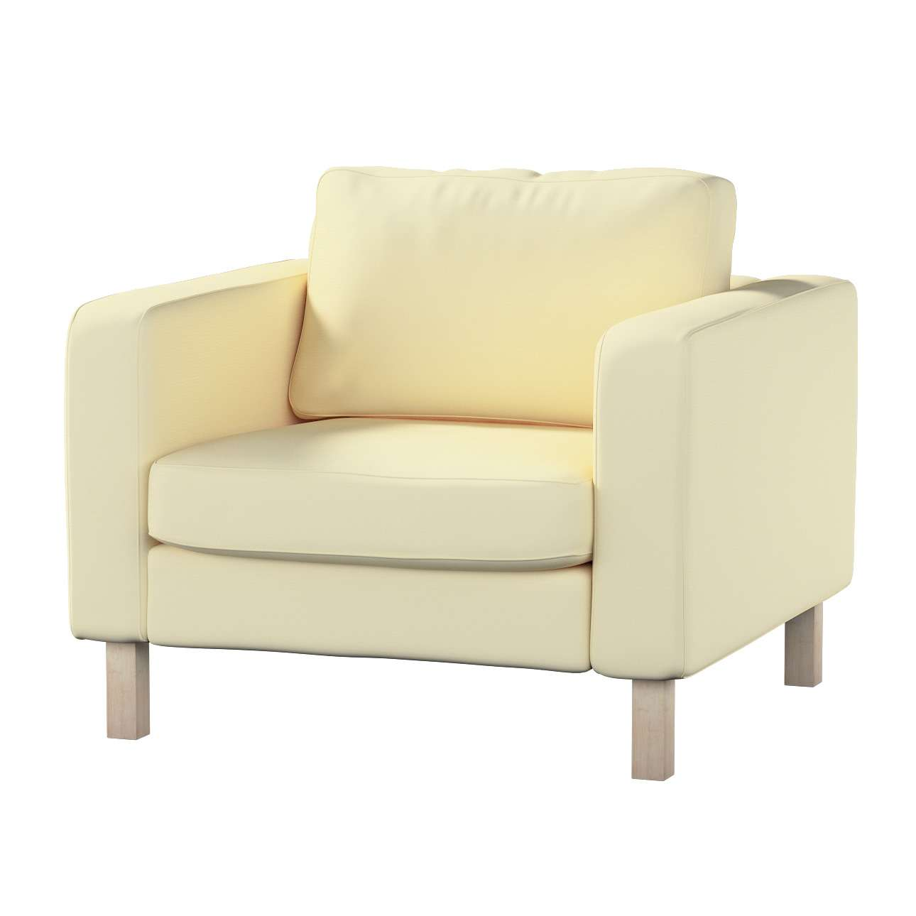 Karlstad armchair cover Karlstad armchair cover in collection Cotton Panama, fabric: 702-29