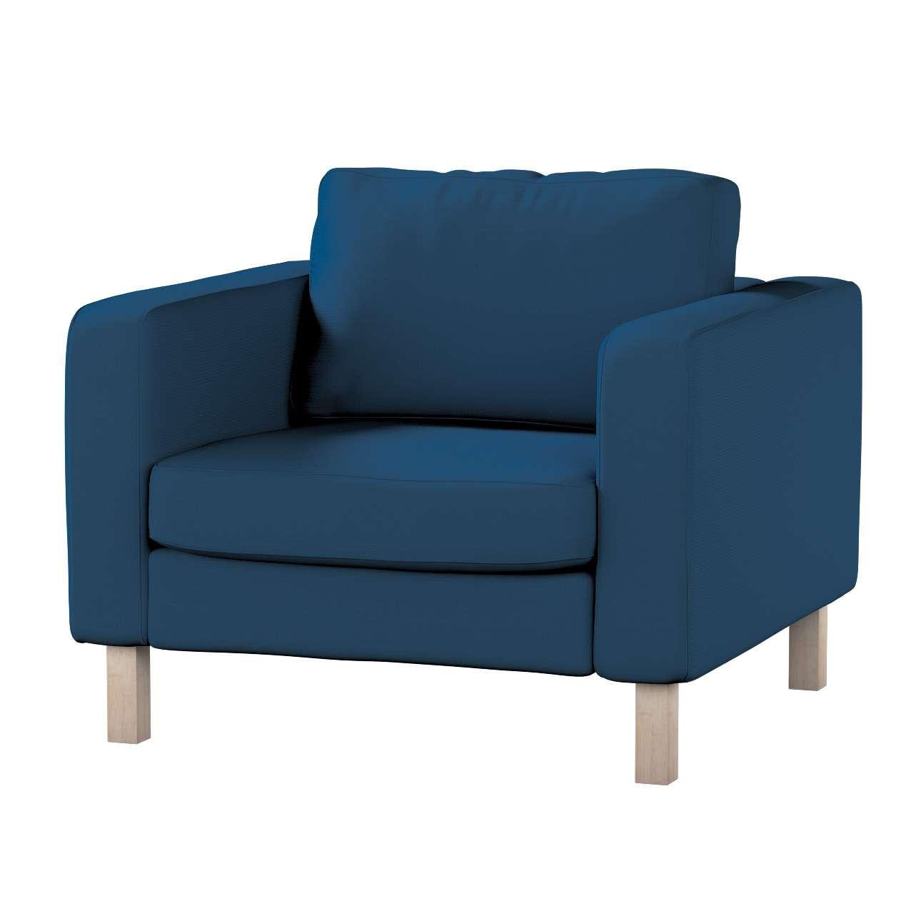 Pokrowiec na fotel Karlstad, krótki Fotel Karlstad w kolekcji Cotton Panama, tkanina: 702-30