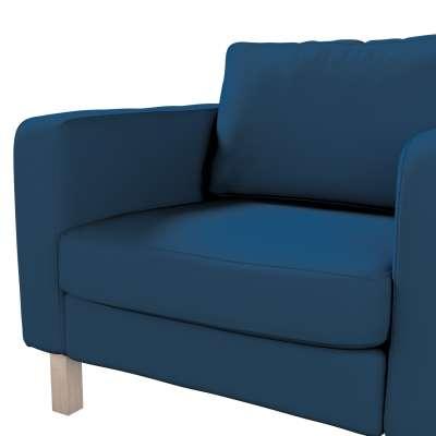 Pokrowiec na fotel Karlstad, krótki w kolekcji Cotton Panama, tkanina: 702-30