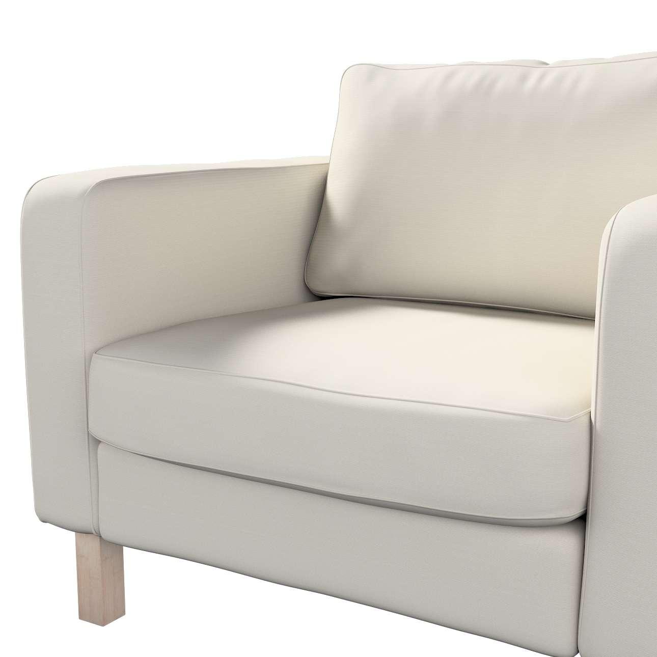 Pokrowiec na fotel Karlstad, krótki w kolekcji Cotton Panama, tkanina: 702-31