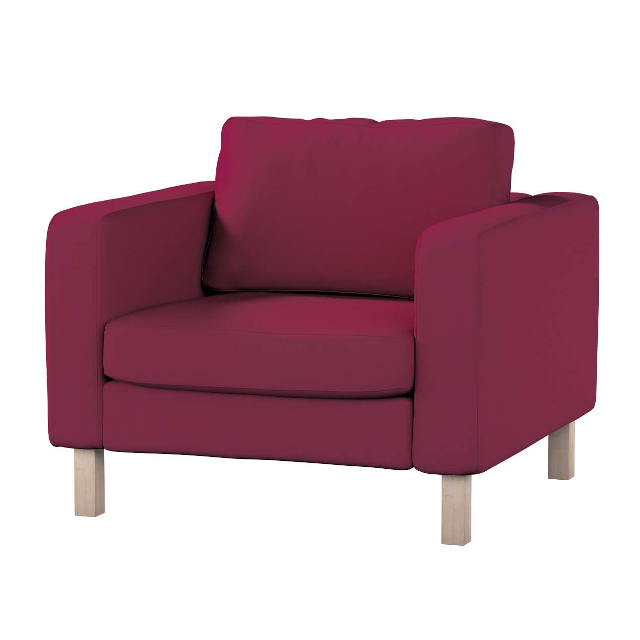 Karlstad armchair cover Karlstad armchair cover in collection Cotton Panama, fabric: 702-32