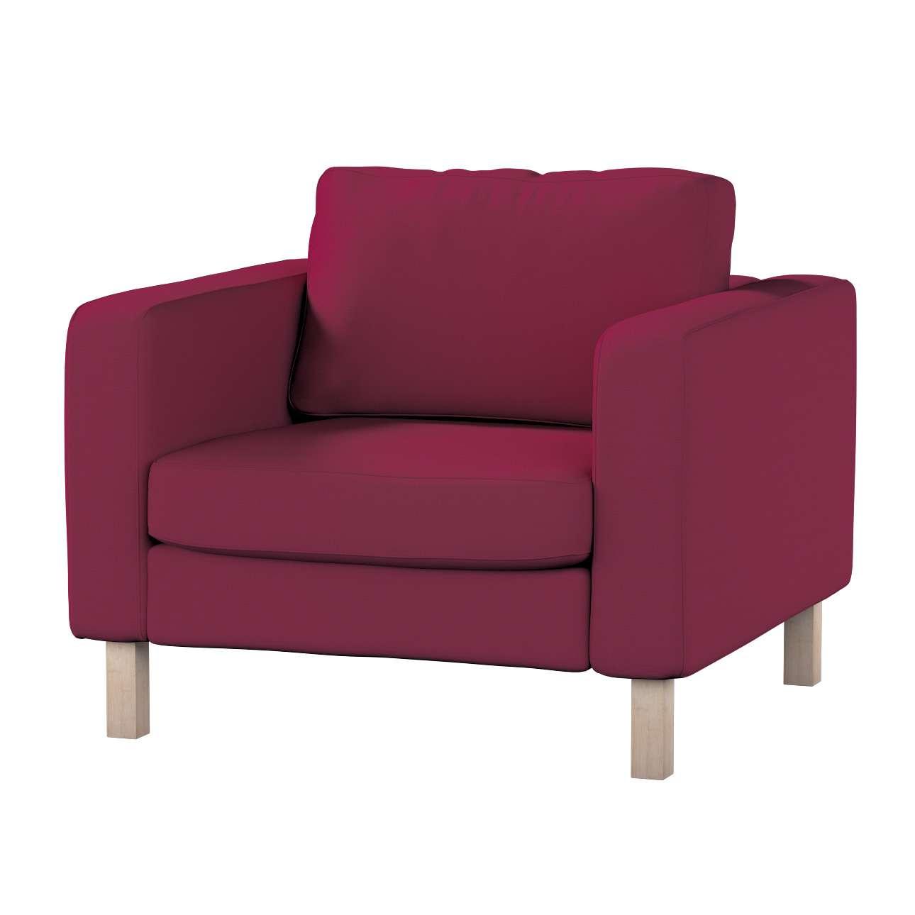 Pokrowiec na fotel Karlstad, krótki Fotel Karlstad w kolekcji Cotton Panama, tkanina: 702-32