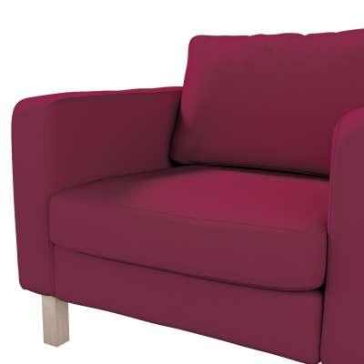 Pokrowiec na fotel Karlstad, krótki w kolekcji Cotton Panama, tkanina: 702-32